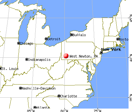 West Newton, Pennsylvania map