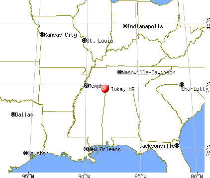Iuka, Mississippi map