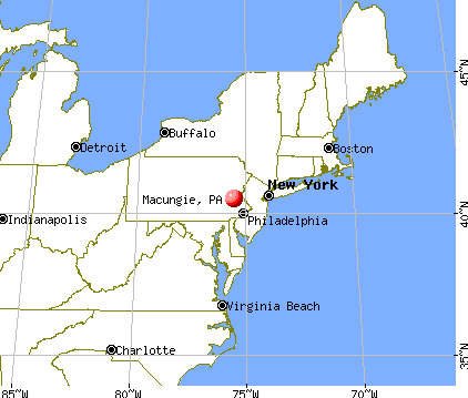 Macungie, Pennsylvania map