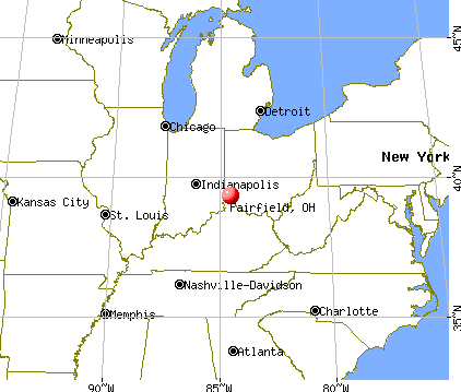 Fairfield, Ohio map