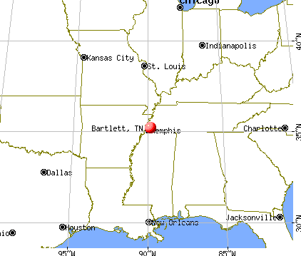 Bartlett, Tennessee map