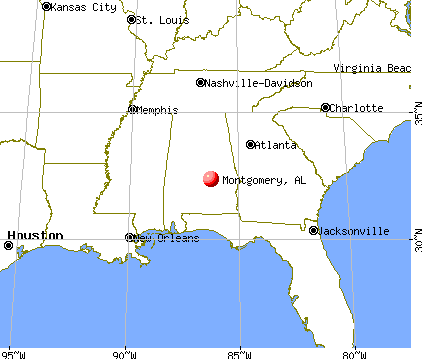 Montgomery, Alabama map