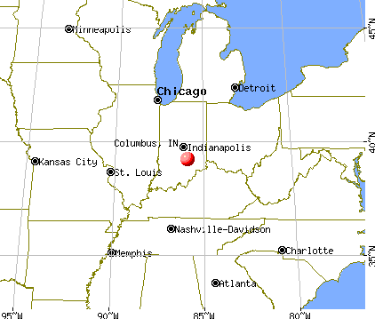 Columbus, Indiana map