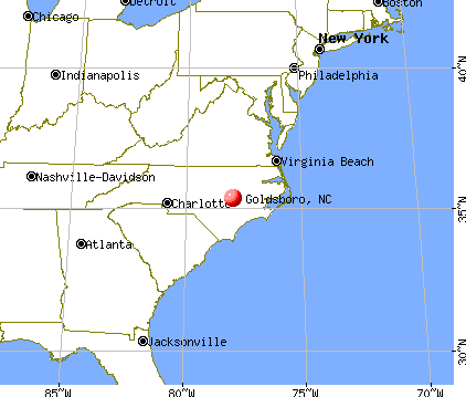Goldsboro, North Carolina map