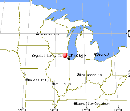Crystal Lake, Illinois map