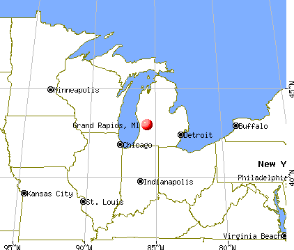Grand Rapids, Michigan map