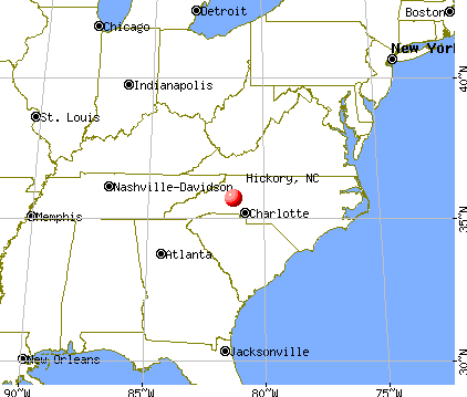 Hickory, North Carolina map