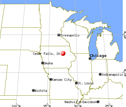 Cedar Falls, Iowa map