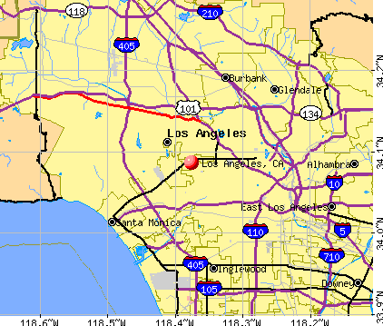 Los Angeles, CA map