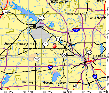 Irving, TX map