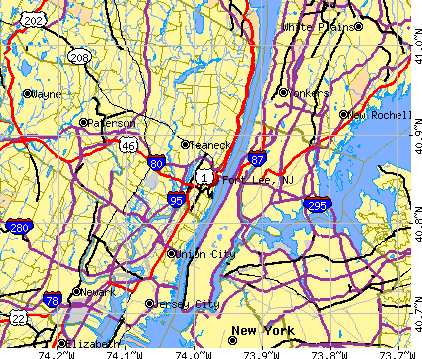 Fort Lee, NJ map