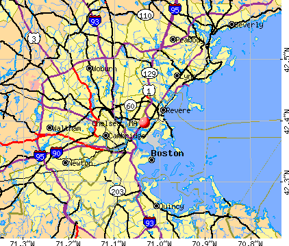 Chelsea, MA map
