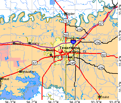 Texarkana, TX map