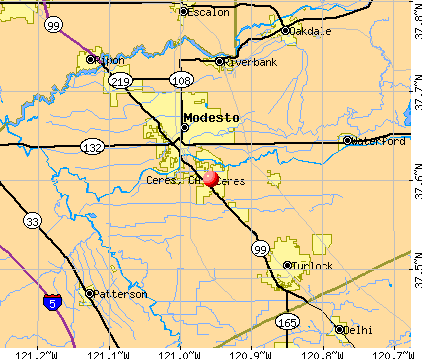 Ceres, CA map