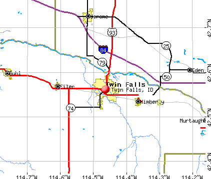 Twin Falls, ID map