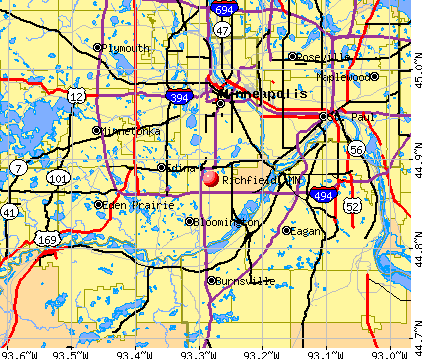 Richfield, MN map