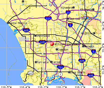 Willowbrook, CA map