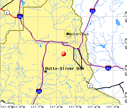 Butte-Silver Bow, MT map