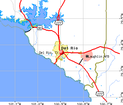 Del Rio, Texas (TX 78840) profile: potion, maps, real estate ... Del Rio Texas Map on