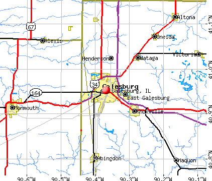 Galesburg, IL map