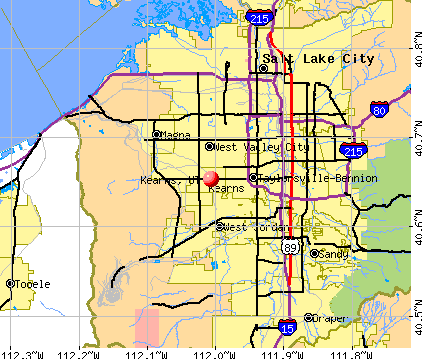 Kearns, UT map