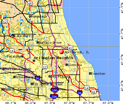 Northbrook, IL map