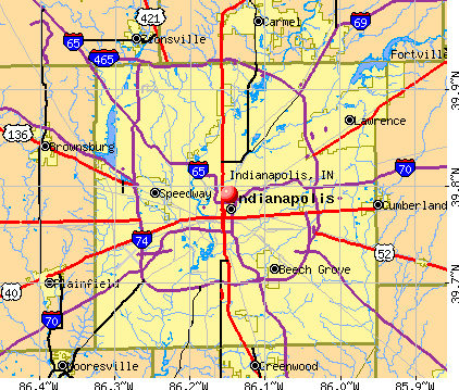 Indianapolis, IN map