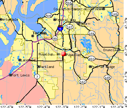 Puyallup, WA map