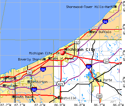 Michigan City, IN map