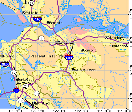 Pleasant Hill, CA map