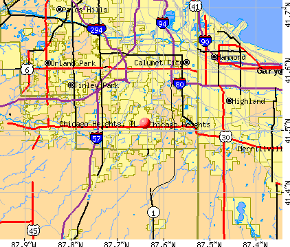 Chicago Heights, IL map
