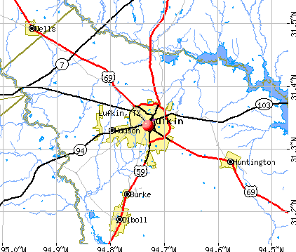 Lufkin, TX map