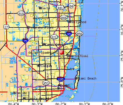 Golden Glades, FL map