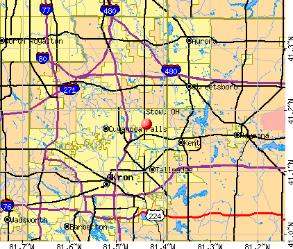 Stow, OH map