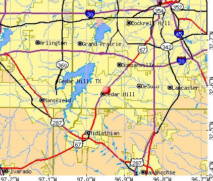 Cedar Hill, TX map