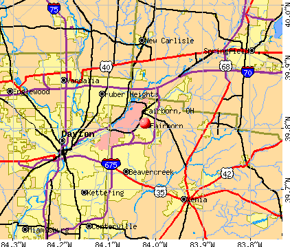 Fairborn, OH map