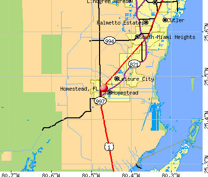 Homestead, FL map