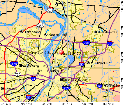 Granite City, IL map