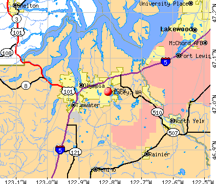 Lacey, WA map