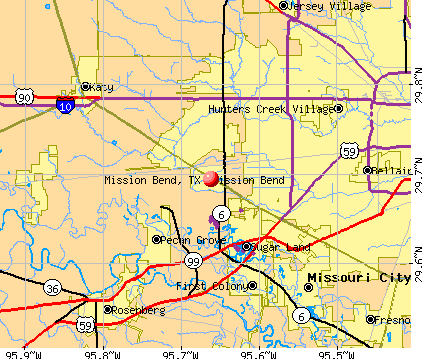 Mission Bend, TX map