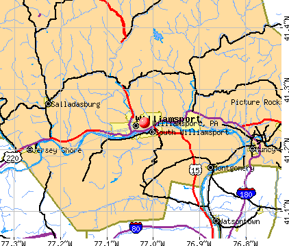 Williamsport, PA map
