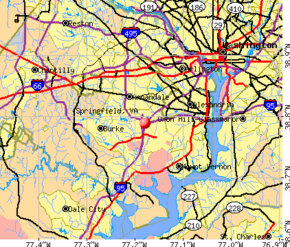Springfield, VA map