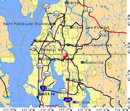 Bothell, WA map