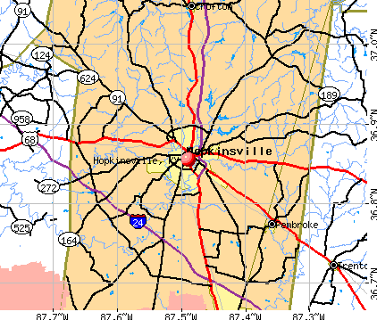 Hopkinsville, KY map