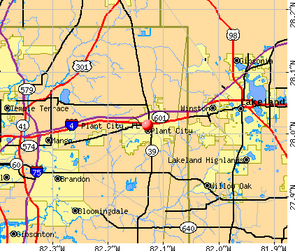 Plant City, FL map