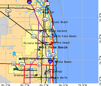 Riviera Beach, FL map