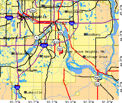 Inver Grove Heights, MN map