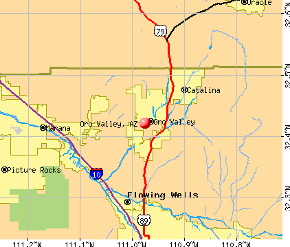 Oro Valley, AZ map