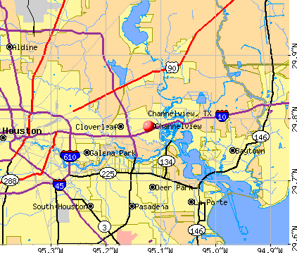 Channelview, TX map