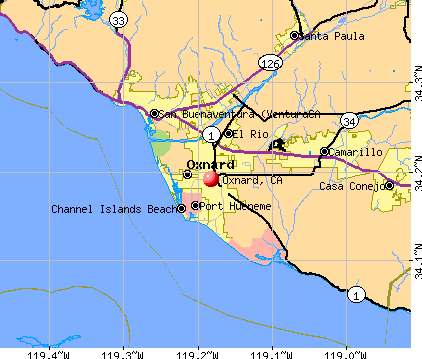 Oxnard, CA map